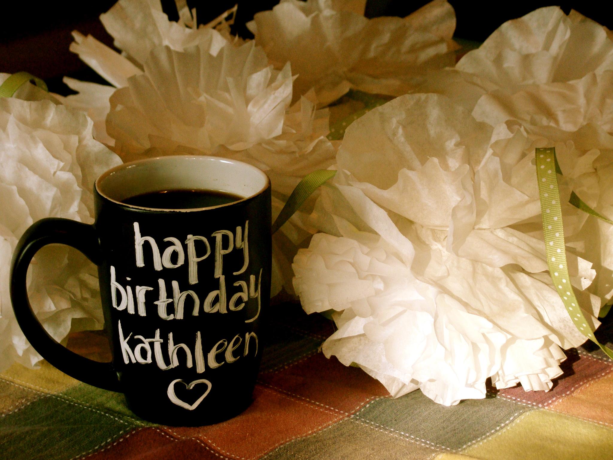 Happy Birthday Kathleen Cake
